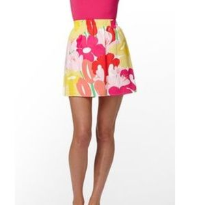 Lilly Pulitzer | Floral Lined Cotton Skirt